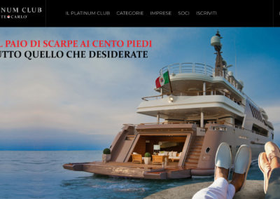 SCARANIDESIGNER  IN Partnership design&Architecture with Platinum Club Montecarlo