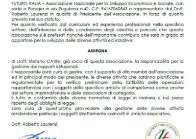Marchio Unico Nazionale incarico a Stefano CATINI