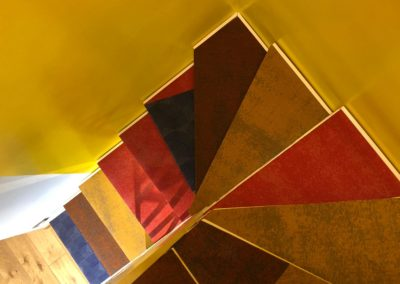 scaranidesigner soft staircase, iron & textiles